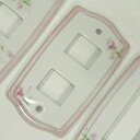 England rose Catherine ceramic switch plate switch cover 1 hole 2 holes and 3 holes