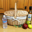 Picnic basket L canvas with cogo bag 40 × 32 × h35 (including handle)