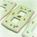 "Flowers blooming in your garden (* ^ __ ^ *) プランドパリ ""Francine rose"" porcelain switch plate switch cover 1 hole 2 holes and 3 holes"