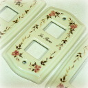 Surrounding the elegant rose (* ^ __ ^ *) rose ceramic switch plate switch cover 1 hole 2 holes and 3 holes