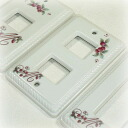 Manny Rococo porcelain switch plate switch cover 1 hole 2 holes and 3 holes