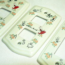 Shinzi Katoh design Alice ☆ fairy countries welcome Alice ceramic switch plate switch cover 1 hole 2 holes and 3 holes