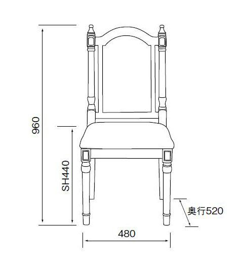 椅子尺寸三视图,椅子尺寸图片