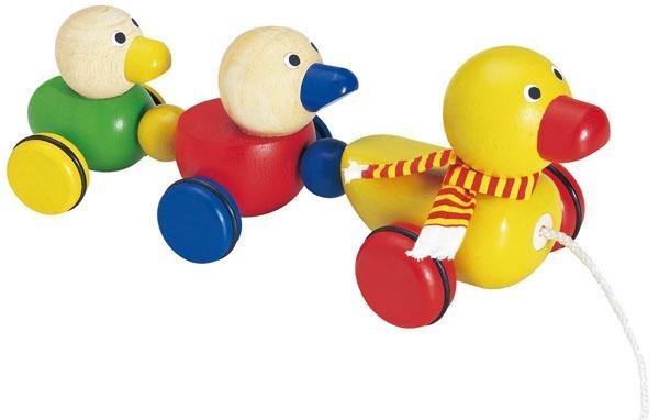 可爱的七彩木制玩具!