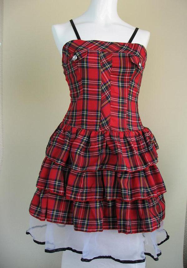 受欢迎的格子花纹,古装戏连衣裙