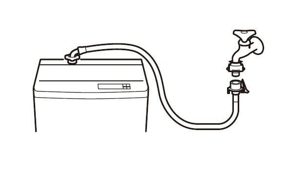 3 荣水水龙头三荣全自动洗衣机水软管 pt17-1-5