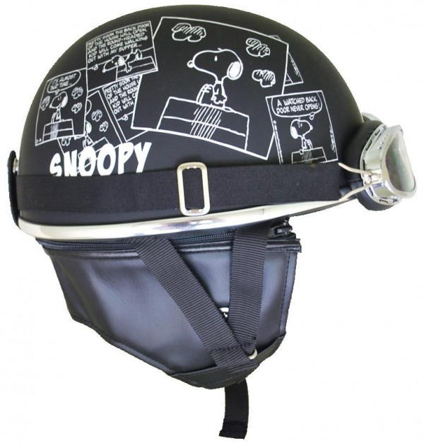 可爱的史努比头盔 !