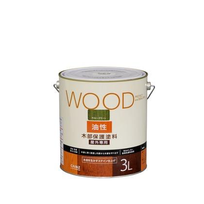油性木部保護塗料 アイビーグリーン 3L