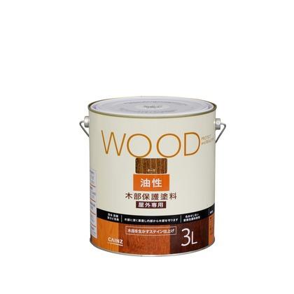 カインズ 油性塗料 木部保護用 チーク 3L