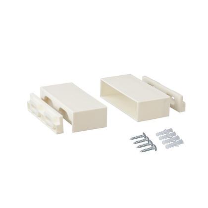 1×4棚受 オフホワイト 4x2.4x9.5cm DXO-22 1 セット