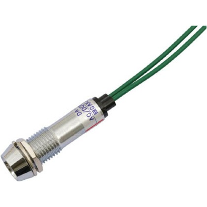サカズメ LED表示灯DA-10JPL(AC/DC100V接続)Φ10緑 DA-10JPL-AC/DC100V-G