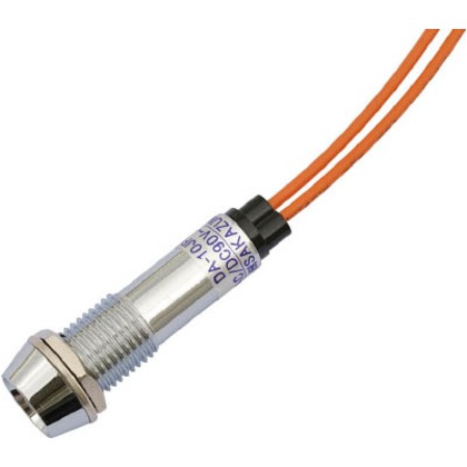 サカズメ LED表示灯DA-10JPL(AC/DC100V接続)Φ10橙 DA-10JPL-AC/DC100V-O