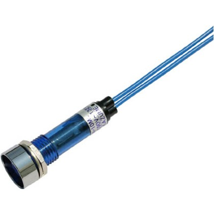 サカズメ LED表示灯DA-10ML-1(AC/DC100V接続)Φ10青 DA-10ML-1-AC/DC100V-B