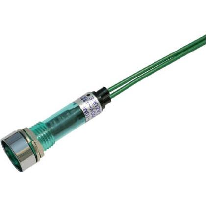 サカズメ LED表示灯DA-10ML-1(AC/DC100V接続)Φ10緑 DA-10ML-1-AC/DC100V-G