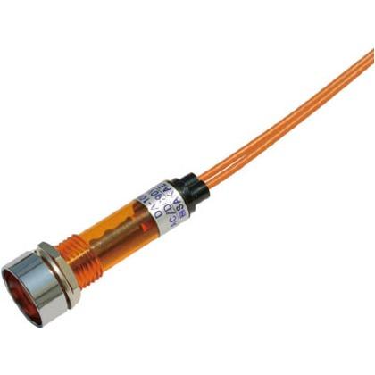 サカズメ LED表示灯DA-10ML-1(AC/DC100V接続)Φ10橙 DA-10ML-1-AC/DC100V-O
