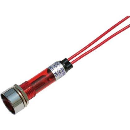 サカズメ LED表示灯DA-10ML-1(AC/DC100V接続)Φ10赤 DA-10ML-1-AC/DC100V-R