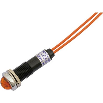 サカズメ LED表示灯DA-10MPL(AC/DC100V接続)Φ10橙 DA-10MPL-AC/DC100V-O