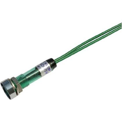 サカズメ LED表示灯DA-8FL-2(AC/DC100V接続)Φ8緑 DA-8FL-2-AC/DC100V-G