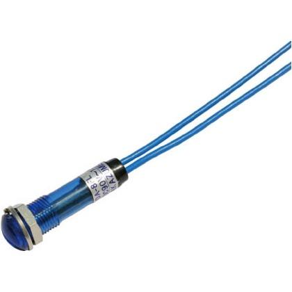 サカズメ LED表示灯DA-8FL(AC/DC100V接続)Φ8青 DA-8FL-AC/DC100V-B