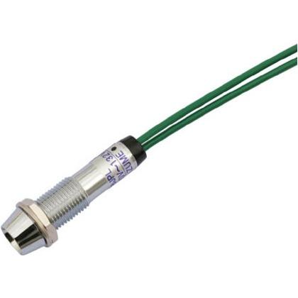 サカズメ LED表示灯DA-8JPL(AC/DC100V接続)Φ8緑 DA-8JPL-AC/DC100V-G
