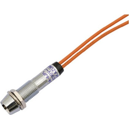 サカズメ LED表示灯DA-8JPL(AC/DC100V接続)Φ8橙 DA-8JPL-AC/DC100V-O