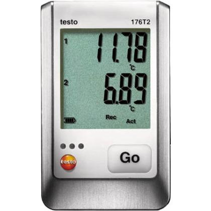 温度データロガディスプレイ付Pt100(外付)2点   TESTO176T2