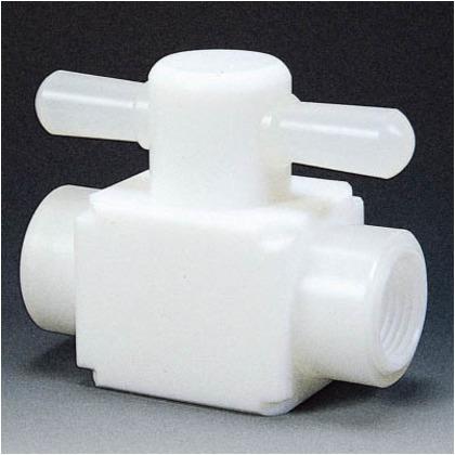 フッ素樹脂(PTFE)メス三方バルブ圧入型RC1/2   NR0007-003