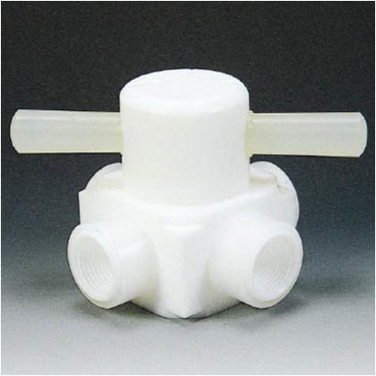 フッ素樹脂(PTFE)メス四方バルブ圧入型RC1/2   NR0008-003