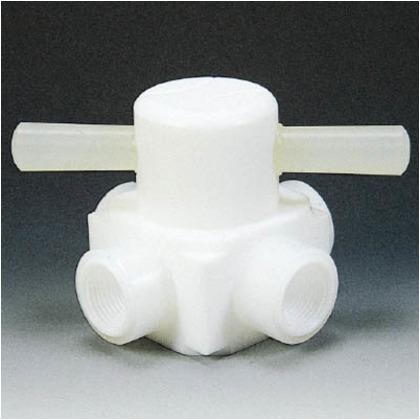 フッ素樹脂(PTFE)メス四方バルブ圧入型RC3/4   NR0008-004