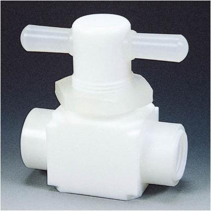 フッ素樹脂(PTFE)メス二方パネル付バルブ圧入型RC3/4   NR0010-004