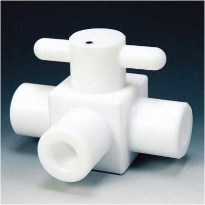 PTFEコンパクト三方ボールバルブRC1/2フッ素ゴム   NR1204-003