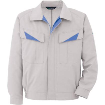 ミドリ安全 春夏ウインドフリー男児ペア長袖ブルゾンシルバーグレー5L GS 2621-UE-5L