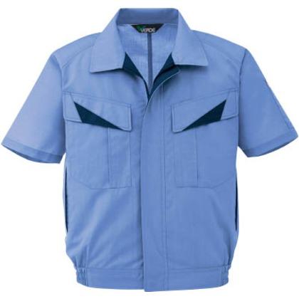 ミドリ安全 春夏ウインドフリー男児ペア半袖ブルゾンライトブルー3L GS 623-UE-3L