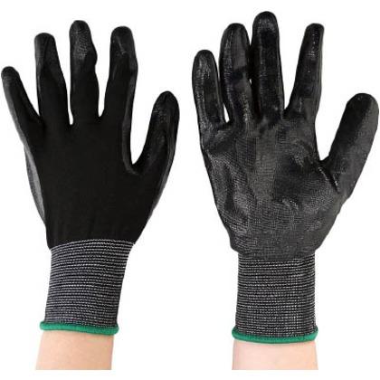 丸和ケミカル 黒フィットニトリルコーティング手袋10双組 775-10 10双