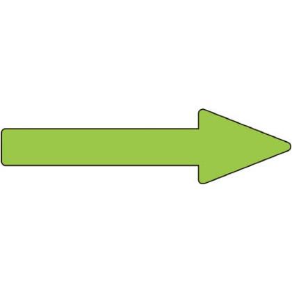 緑十字 貼矢20 配管方向表示ステッカー→蛍光緑矢印40×150mm10枚組エンビ 193220
