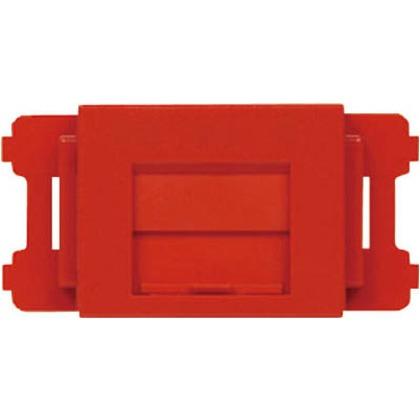 パンドウイット JISプレート用シャッター付きアダプタ赤(10個入) CMAOSSRD-X 10個
