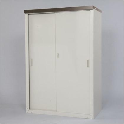 家庭用収納庫(ハーフ棚仕様) 天板:チタングレー 本体:ライトグレー W890×D470×H1320mm HS-132HT