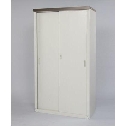 家庭用収納庫(ハーフ棚仕様) 天板:チタングレー 本体:ライトグレー W890×D470×H1620mm HS-162HT