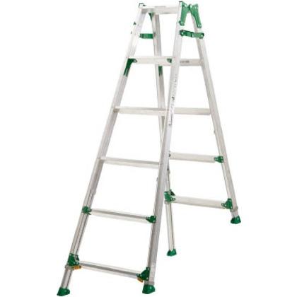 高段差用伸縮脚付きはしご兼用脚立(踏ざん幅広60mm)   PRH1518F