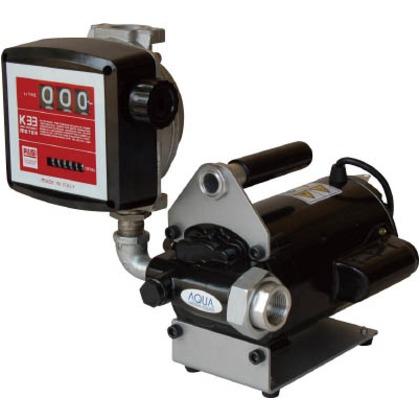 流量計付電動ハンディポンプ(100V)オイル油   K33EV-100