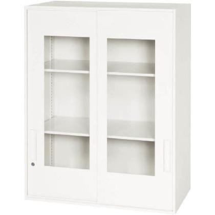【送料無料】ダイシン 壁面収納庫窓付き引戸型上置き専用W800ホワイト   V845-10SG  文具・事務用品文具・OA機器