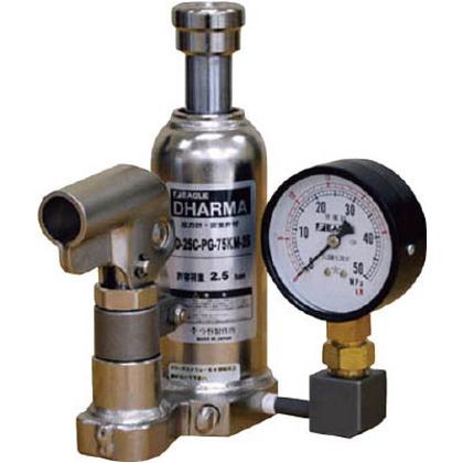 ゲージ付油圧ジャッキクリーンルームタイプ能力10t   ED-100C-PG-75KM-100