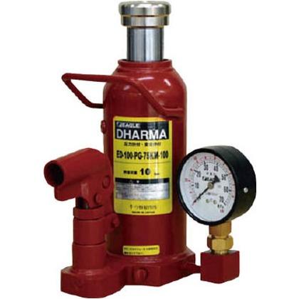 ゲージ付油圧ジャッキ能力10t   ED-100-PG-75KM-100