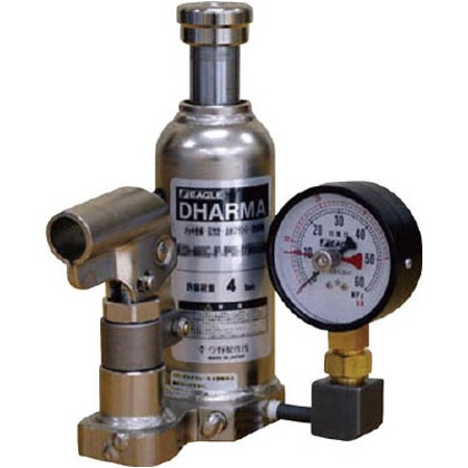 イーグル 置針式ゲージ付油圧ジャッキクリーンルームタイプ能力20t ED-200C-PG-75H-200