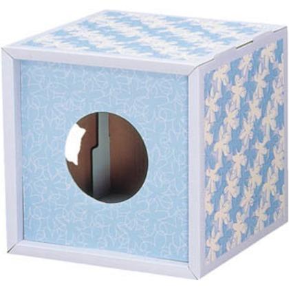 つめとぎBOX花柄ブルー   TTB-4-FBL