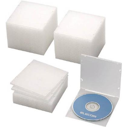エレコム CD・DVD・Blu-rayスリムケース1枚収納クリア(50枚入) CCD-JPCS50CR 50枚
