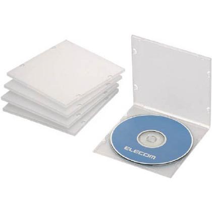 エレコム CD・DVD・Blu-rayスリムケース1枚収納クリア(5枚入) CCD-JPCS5CR 5枚