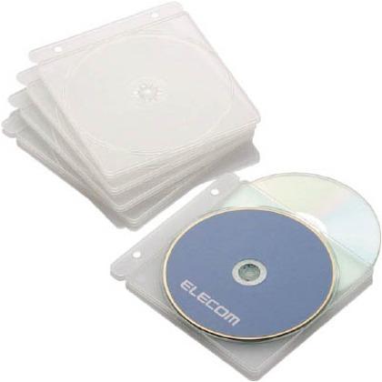 エレコム CD・DVD・Blu-rayディスクトレイファイル対応5枚クリア CCD-JPCTW5CR 5枚