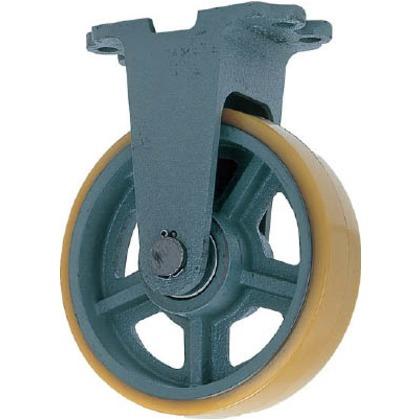 鋳物重荷重用ウレタン車輪固定車付きUHBーk150X75   UHB-K500X75