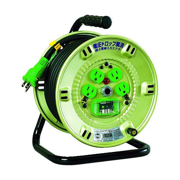 日動 100V漏電遮断器付電工ドラム3.5SQ NP-EB24F